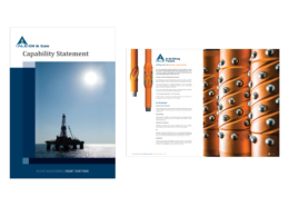 Picture of capability statement publication, featuring drilling tools