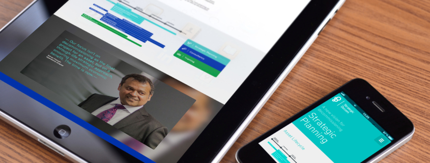 Strategic Decom's website, written by Bydand Copywriting, on tablet and mobile device