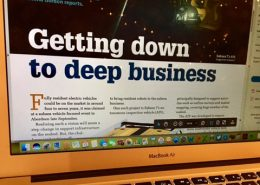 Screen shot of Bydand Copywriting's Offshore Engineer article: Getting down to deep business